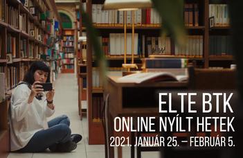 ELTE BTK Online Nyílt Hetek