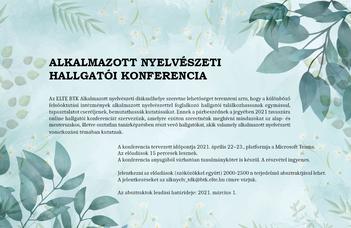 Alkalmazott nyelvészeti hallgatói konferencia